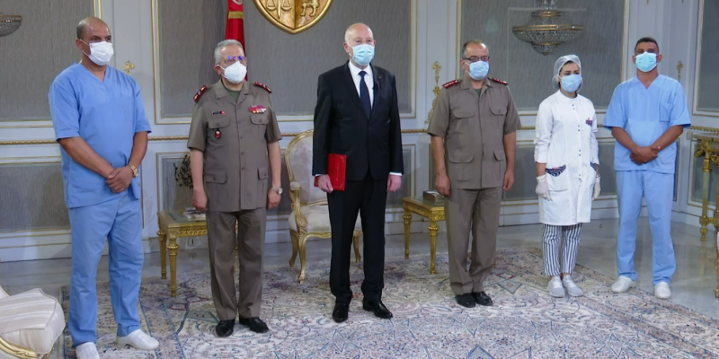 قيس سعيد: 'الكوفيد في تونس فقد توازنه وانتشاره'