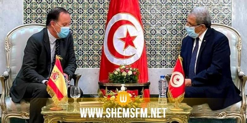 الجرندي يلتقي سفير اسبانيا في تونس ويبحث معه التعاون الثنائي