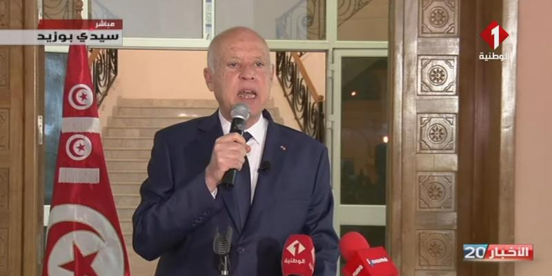 قيس سعيد: 'تونس تعيش عدة أزمات مفتعلة... ولن نتخلى أبدا على التحدي إلّا منتصرين'