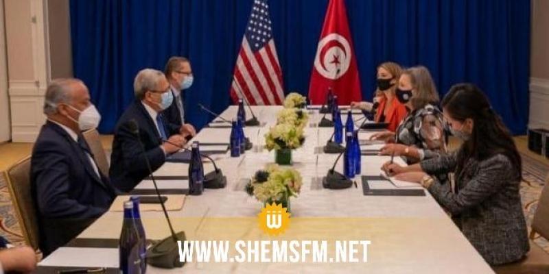 الجرندي لمسؤولة أمريكية: 'الإجراءات الاستثنائية تهدف الى تصحيح مسار التجربة الديمقراطية'