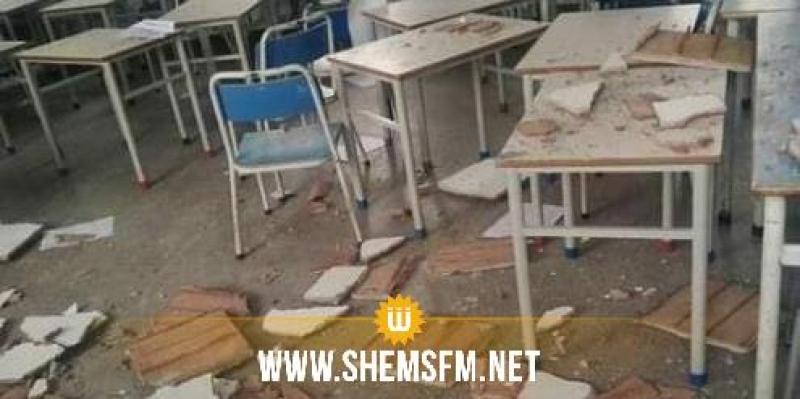 بعد سقوط جزء من سقف قاعة وإصابة عدد من التلاميذ: غلق مدرسة شارع بورقيبة بالكرم