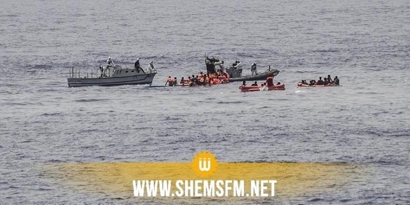 مدنين: استكمال عملية نقل المهاجرين الغير نظاميين بعد إنقاذهم إلى ميناء الكتف