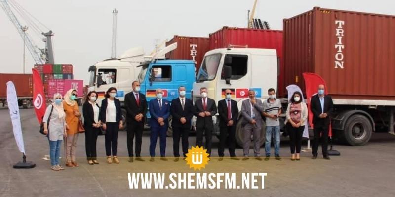 تونس تتسلم 3 حاويات من الكمامات الطبية كدعم من ألمانيا