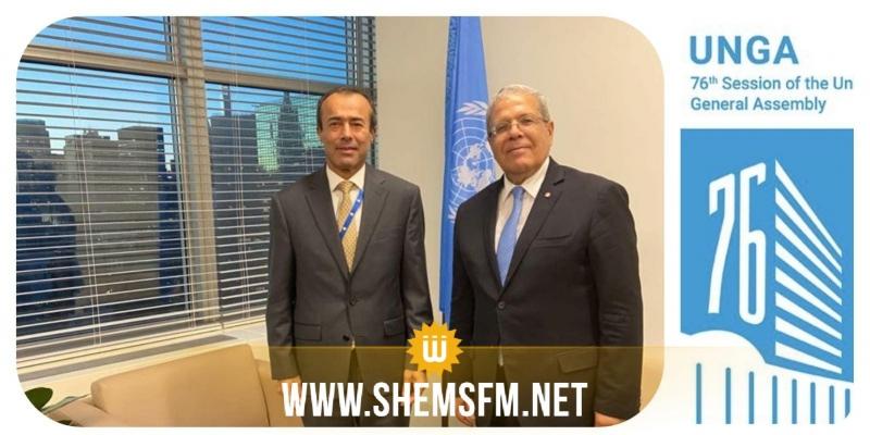 التطورات بالشرق الأوسط محور لقاء الجرندي بمساعد الأمين العام للأمم المتحدة بنيويورك