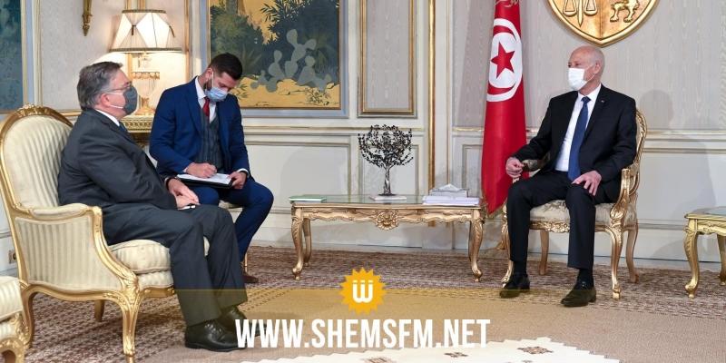 سعيد يُبلغ السفير الأمريكي استياء الدولة التونسية من إدراج الأوضاع في تونس في جدول أعمال الكونغرس